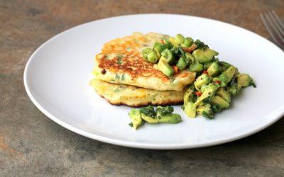 Corn Cakes with Avocado Salad Recipe